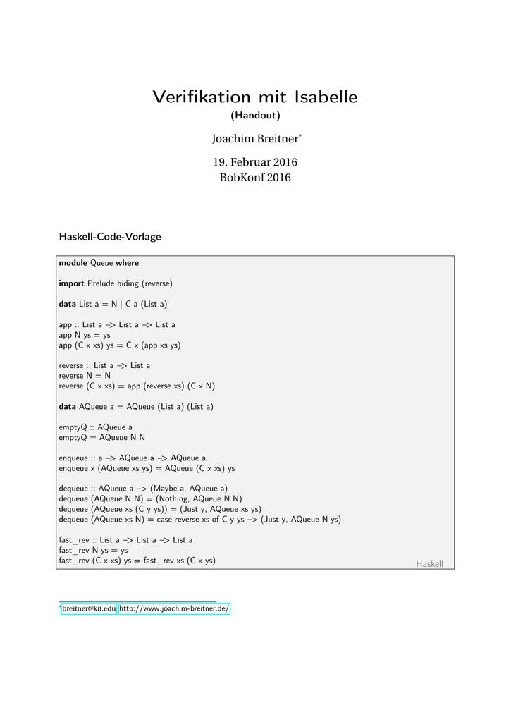 Fein Vorlage Haskell Ideen - Entry Level Resume Vorlagen Sammlung ...