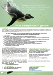 Head of Happiness«(m/w) gesucht!