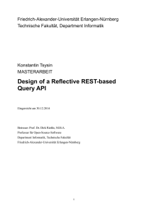 Design of a Reflective REST-based Query API