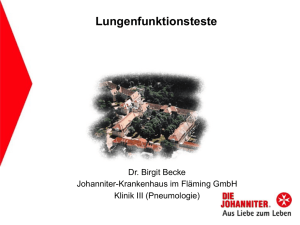 Lungenfunktionsteste