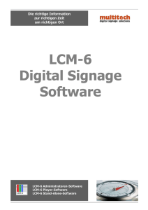 LCM-6 Digital Signage Software