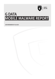 Mobile Malware Report