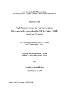 Knock-out Tiermodell - Dissertationen Online an der FU Berlin