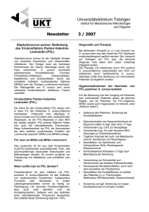 Newsletter 3 / 2007 Universitätsklinikum Tübingen