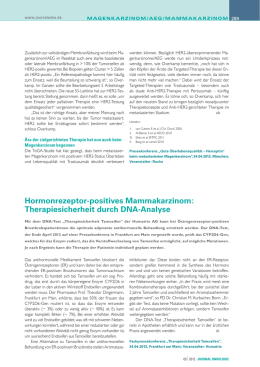 Hormonrezeptor-positives Mammakarzinom: Therapiesicherheit