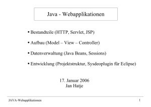 Java - Webapplikationen