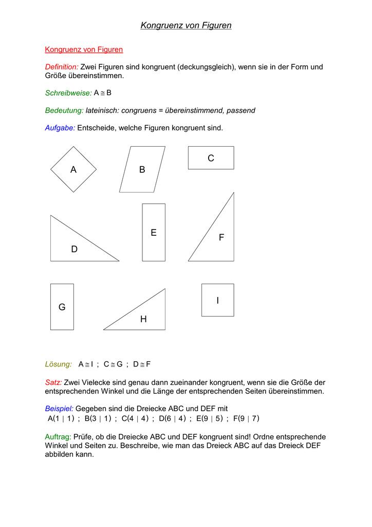 Atemberaubend Lösung Kongruente Dreiecke Arbeitsblatt Galerie ...