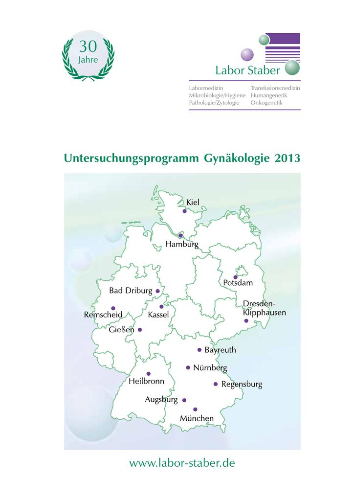 Untersuchungsprogramm Gynäkologie