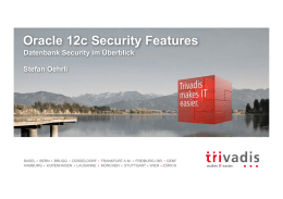 Oracle 12c Security Features