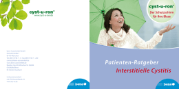 Patienten-Ratgeber Interstitielle Cystitis - cyst-u-ron