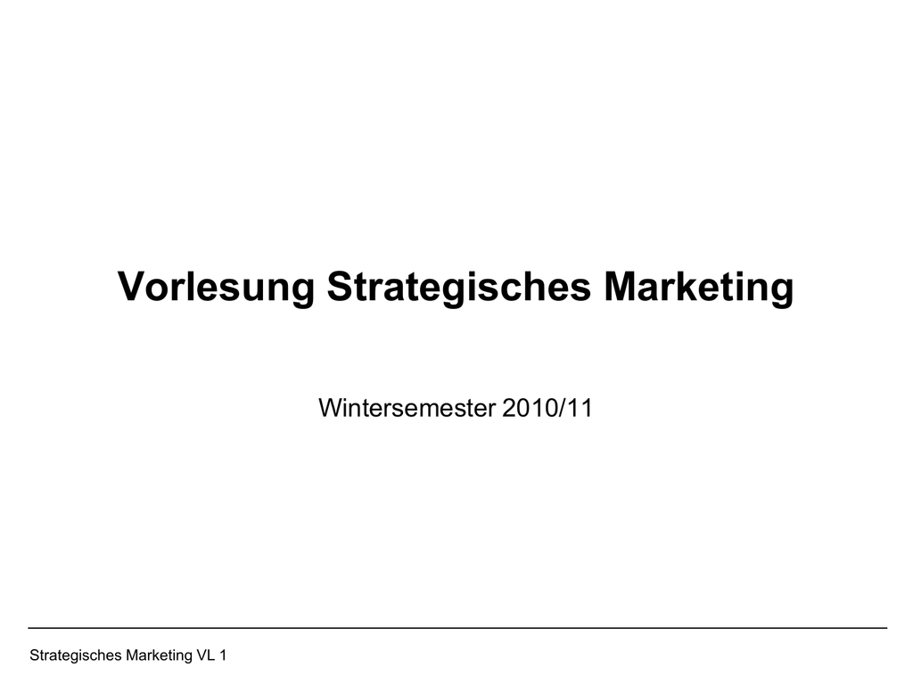 Strategische Situationsanalyse