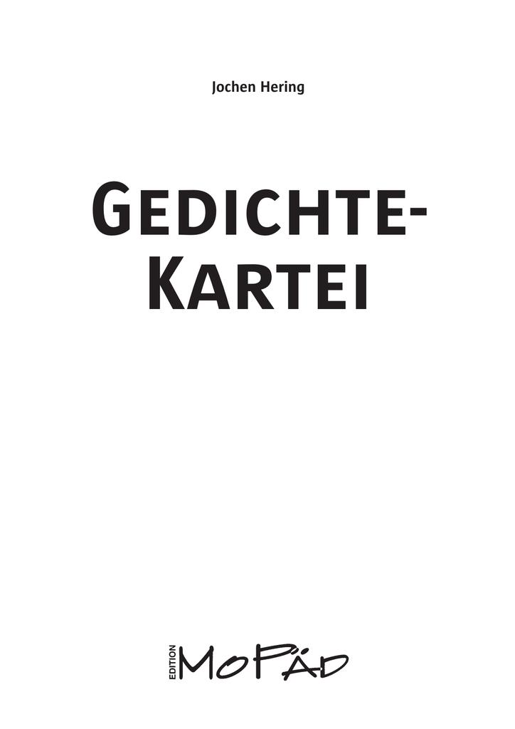 Gedichte Werkstatt