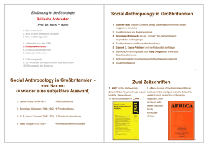 Social Anthropology in Großbritannien - Ethnologie