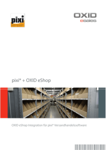 OXID - pixi* Software GmbH