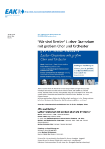 Luther Oratorium Orchester