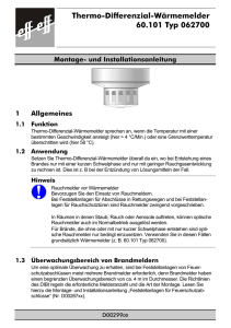 Thermo-Differenzial-Wärmemelder 60.101 Typ 062700