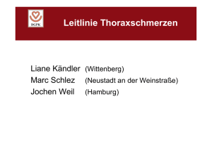 Leitlinie Thoraxschmerz