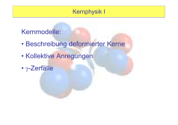 deformierte Kerne, Gamma-Zerfall - User web pages on web