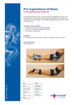 Pro-Supinations-Orthese - Produktewelt - ORTHO-TEAM