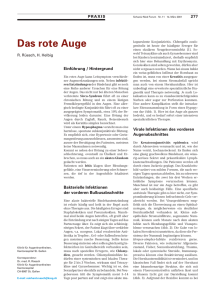 Das rote Auge - Swiss Medical Forum