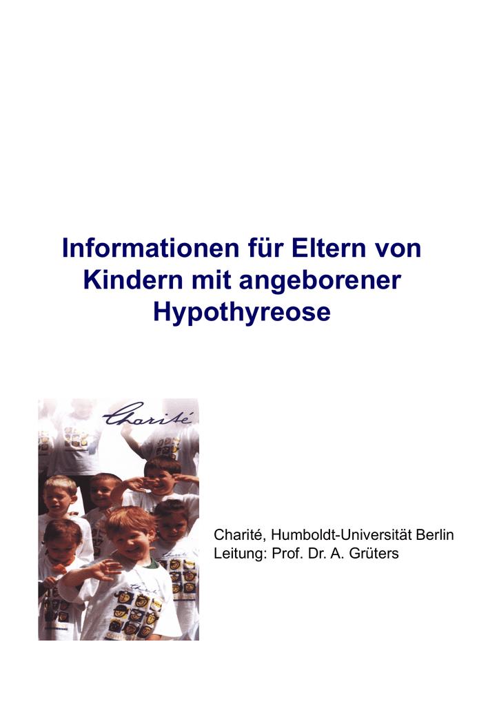 Broschüre angeborene Hypothyreose
