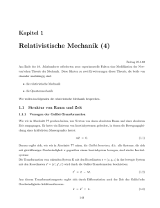 Relativistische Mechanik (4)