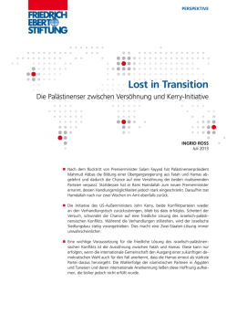 Lost in transition - Bibliothek der Friedrich-Ebert
