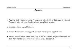 Applets - Universität Potsdam