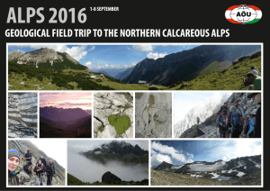 geological field trip to the northern calcareous alps