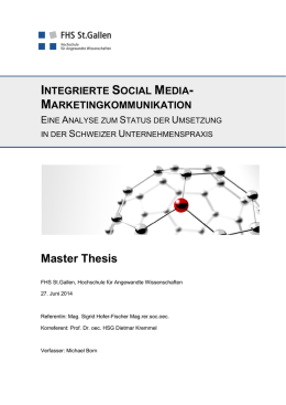 Integrierte Social Media-Marketingkommunikation