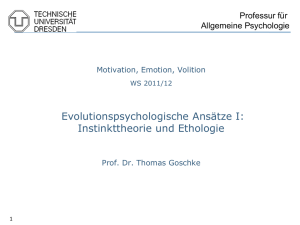 VL Motivation 2 - Ethologie - Fachsymposium