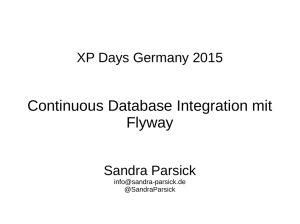 Continuous Database Integration mit Flyway
