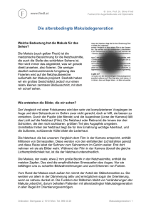 Die altersbedingte Makuladegeneration