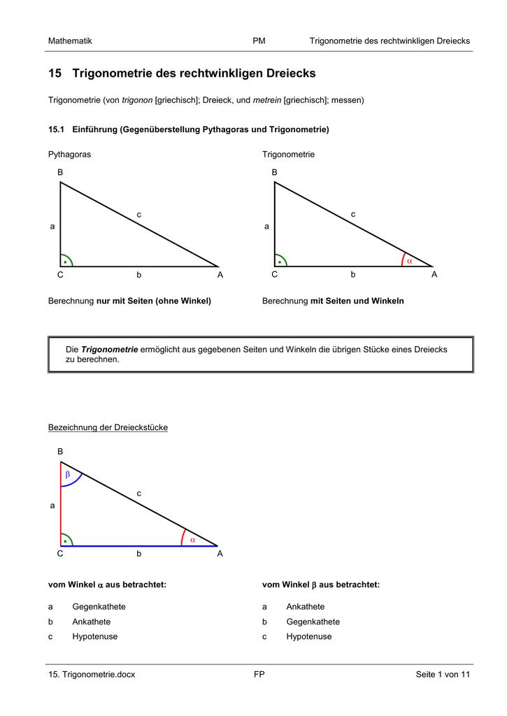 dreieck hypotenuse berechnen