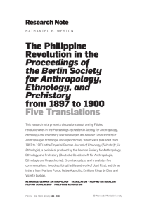 The Philippine Revolution in the Proceedings of