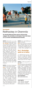 Rollhockey in Chemnitz