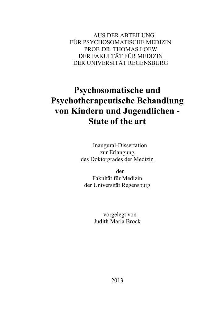 deckblatt dissertation uni regensburg