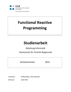 Functional Reactive Programming Studienarbeit