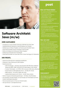Software Architekt Java (m/w)
