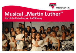 "Musical ""Martin Luther"""