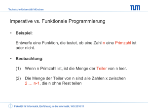Imperative vs. Funktionale Programmierung