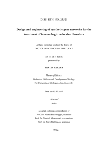 Design and engineering of synthetic gene networks for the treatment