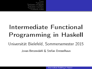 Intermediate Dabbling in Haskell