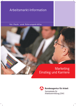 Marketing Einstieg und Karriere