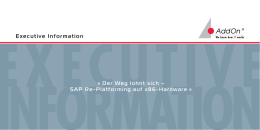 SAP Re-Platforming auf x86-Hardware