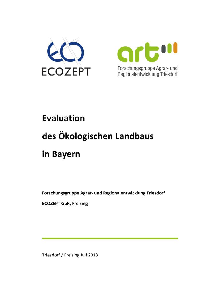 f247d6bed503eb Evaluation des Ökologischen Landbaus in Bayern