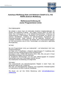 Junior Programmierer (m/w)