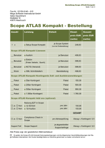 Scope ATLAS Kompakt - Bestellung