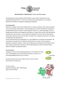 Bachelorarbeit / Masterarbeit: Fusion and fission genes