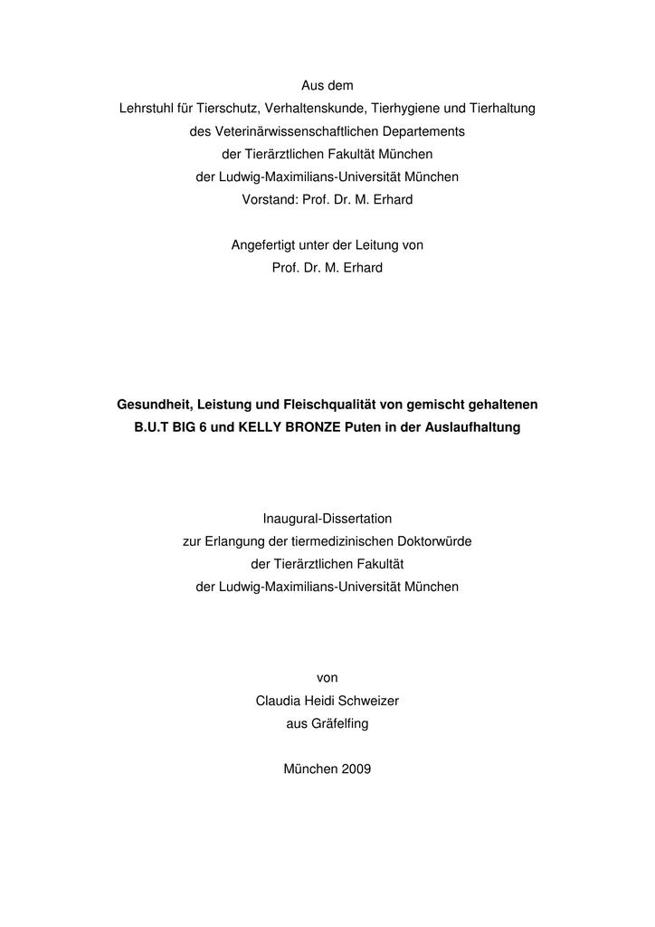 dissertation tiermedizin münchen